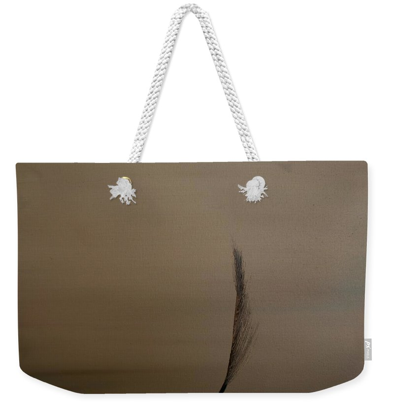 Feather Weekender Tote Bag featuring the painting Feather by Jack Diamond