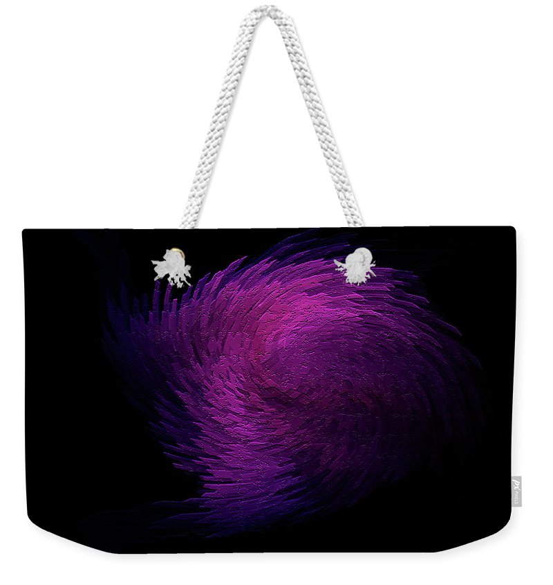 Digitalimage Weekender Tote Bag featuring the digital art Feather by Tony Svensson