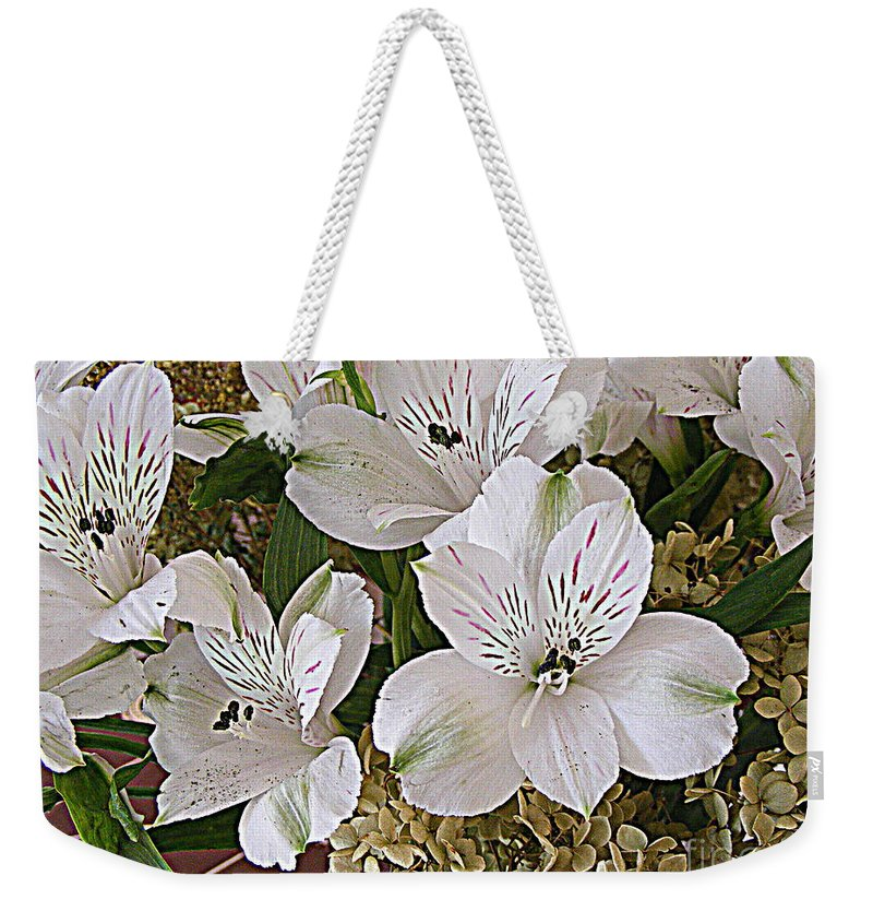 Photography Weekender Tote Bag featuring the photograph February Flowers by Nancy Kane Chapman