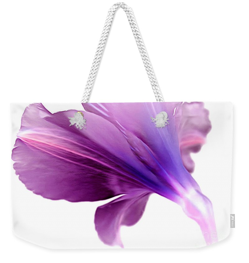 Amaryllis Weekender Tote Bag featuring the photograph February by Krissy Katsimbras