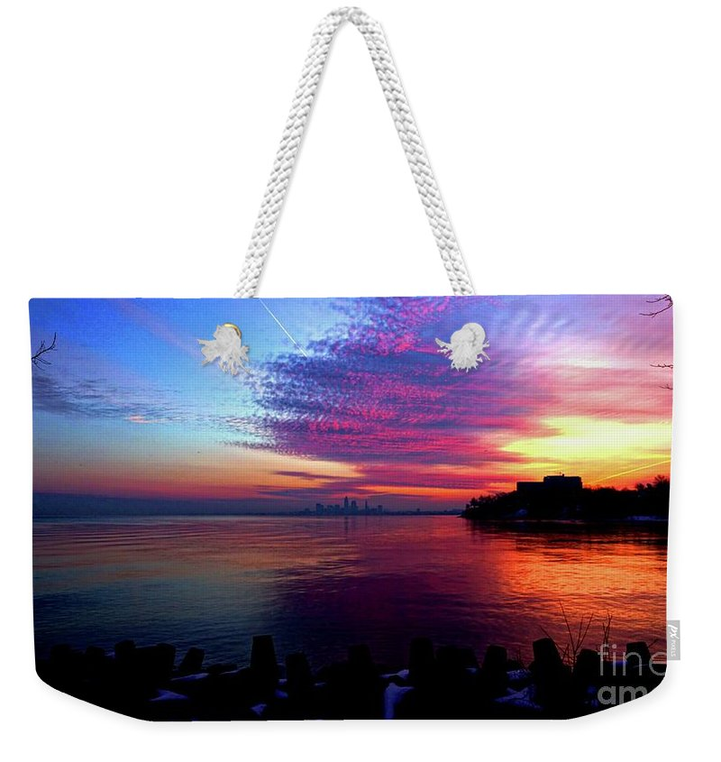 Winter Weekender Tote Bag featuring the photograph February's New Hope by Dominic Flauto