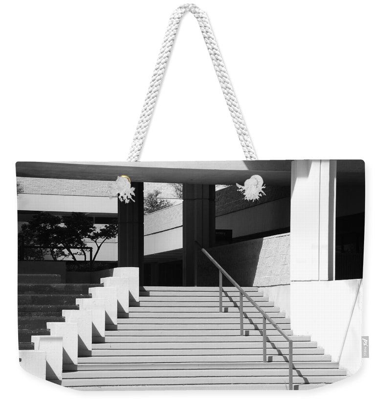 Architecture Weekender Tote Bag featuring the photograph Federal Stairs by Rob Hans