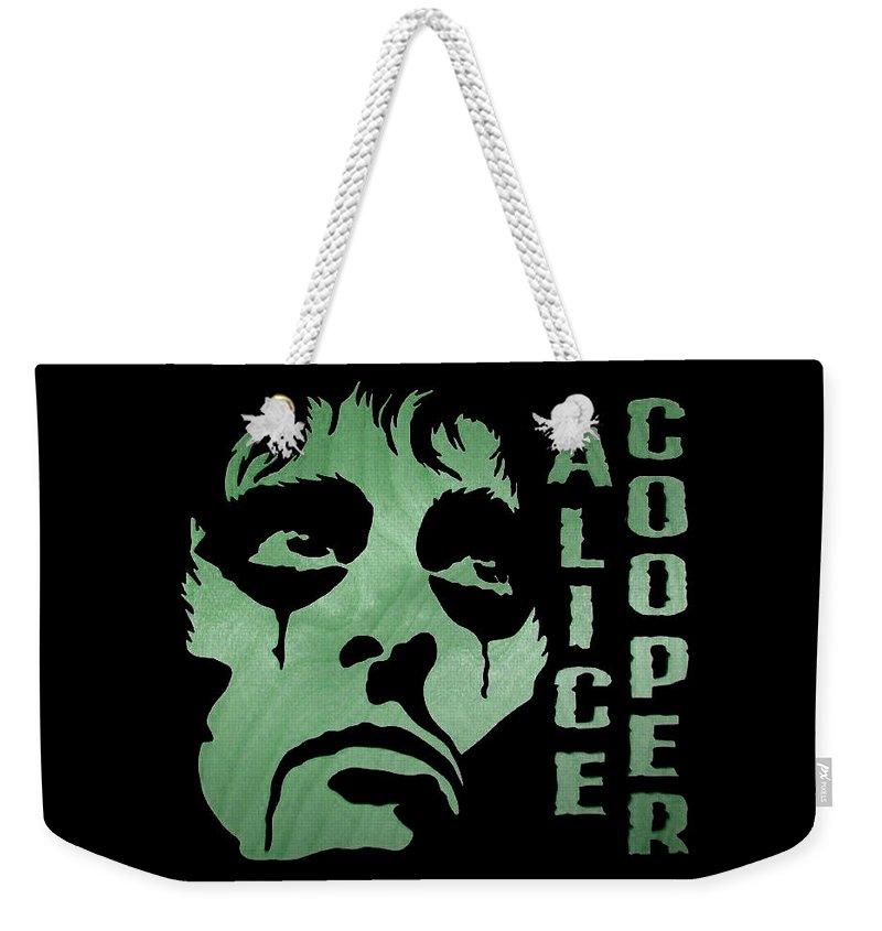Alice Weekender Tote Bag featuring the digital art Feed My Frankenstein by Michael Bergman