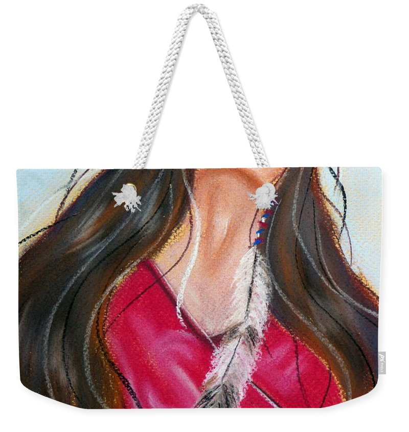 Dream Weekender Tote Bag featuring the pastel Feeling The Spirit by Jo Hoden