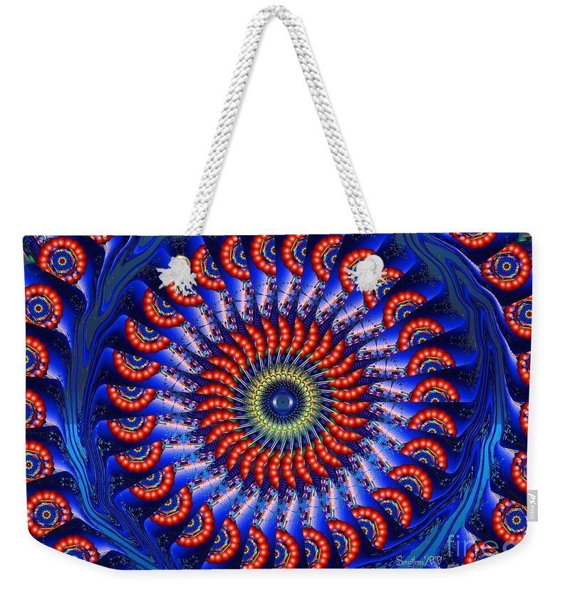 Blue Weekender Tote Bag featuring the digital art Feels Like Home by Robert Orinski