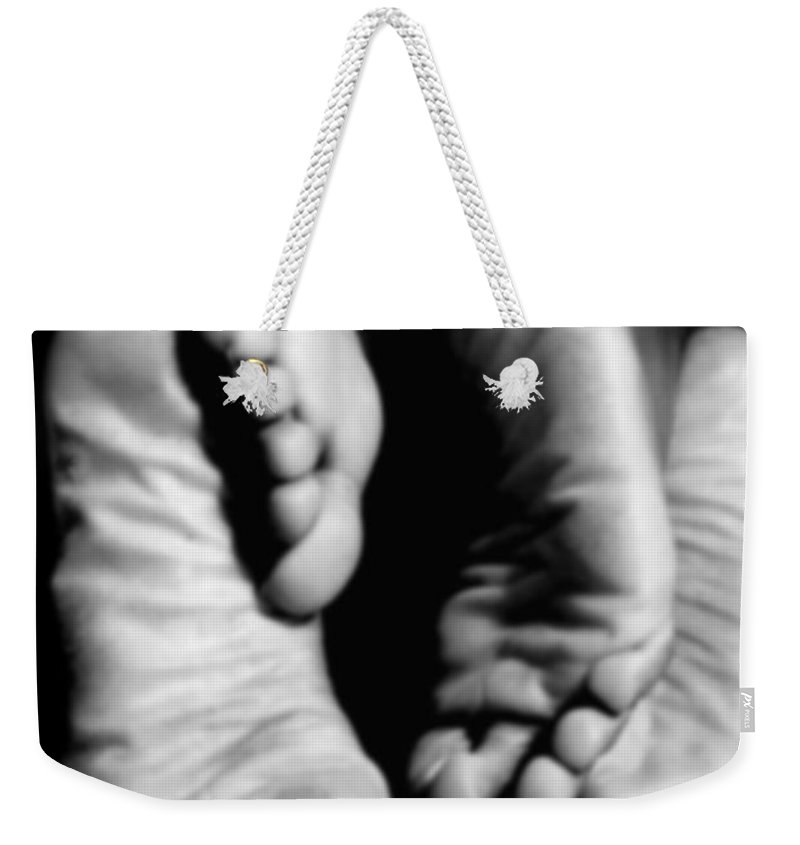 Art Weekender Tote Bag featuring the photograph Feet-sees by Ed Silvera
