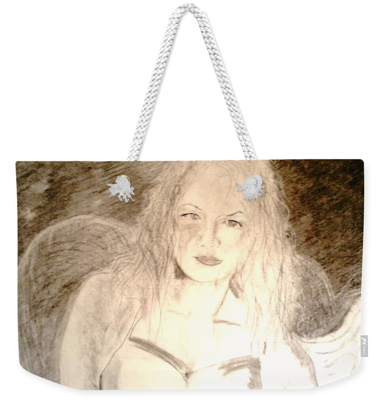 Cantina Weekender Tote Bag featuring the drawing Felina by J Bauer