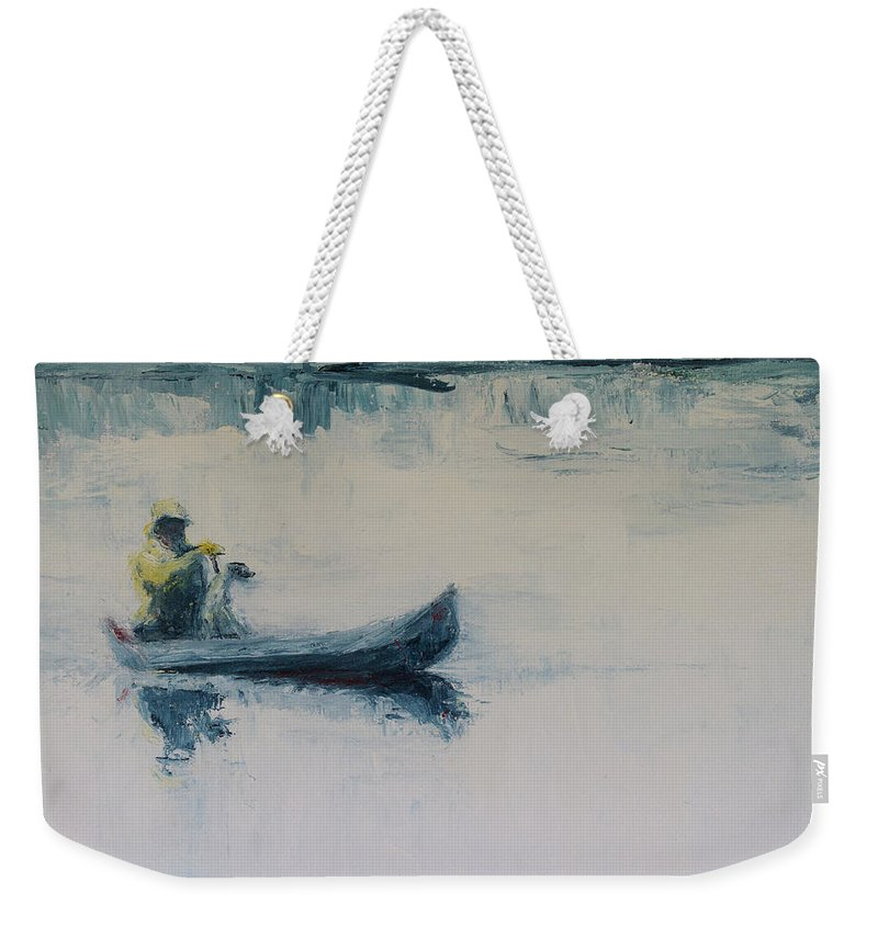 Landscape Weekender Tote Bag featuring the painting Fellow Travelers by Jan Hix