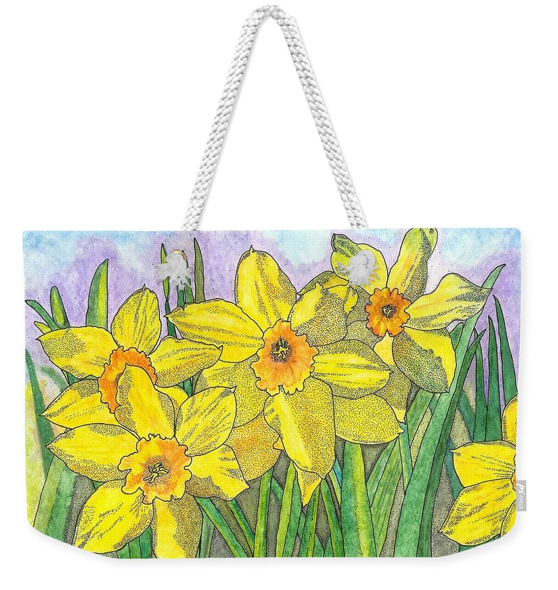 Flowers Weekender Tote Bag featuring the painting Fellowship by Glenn McCarthy Art and Photography