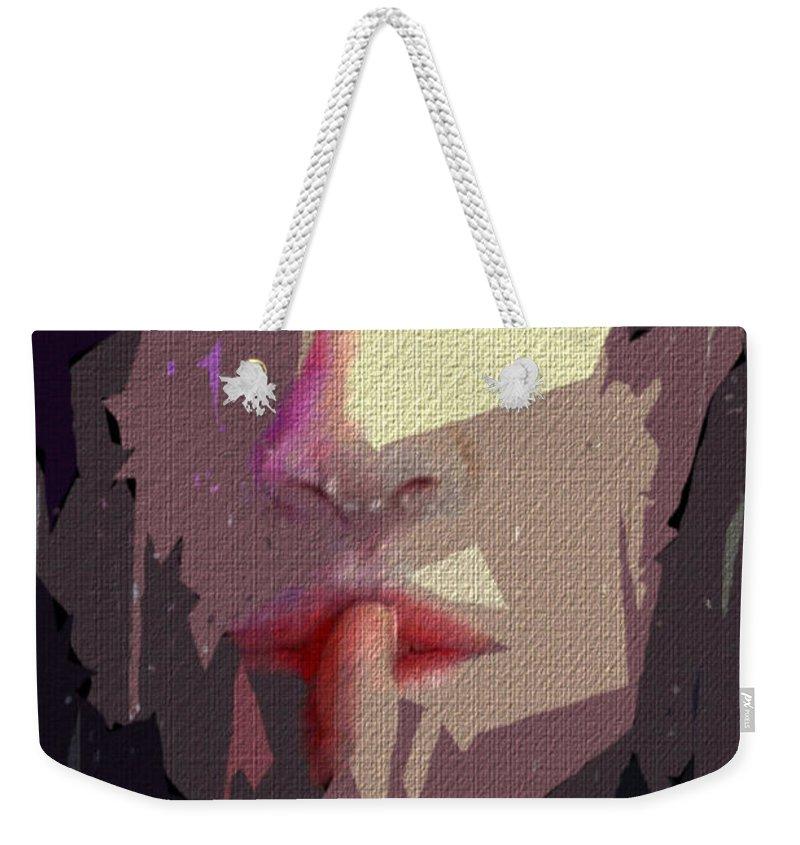 Art Weekender Tote Bag featuring the digital art Female Expressions Xlvii by Rafael Salazar