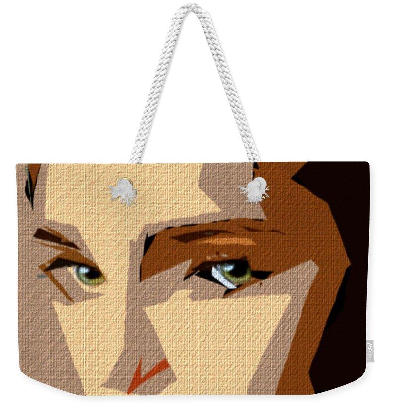 Art Weekender Tote Bag featuring the digital art Female Expressions Xlviii by Rafael Salazar