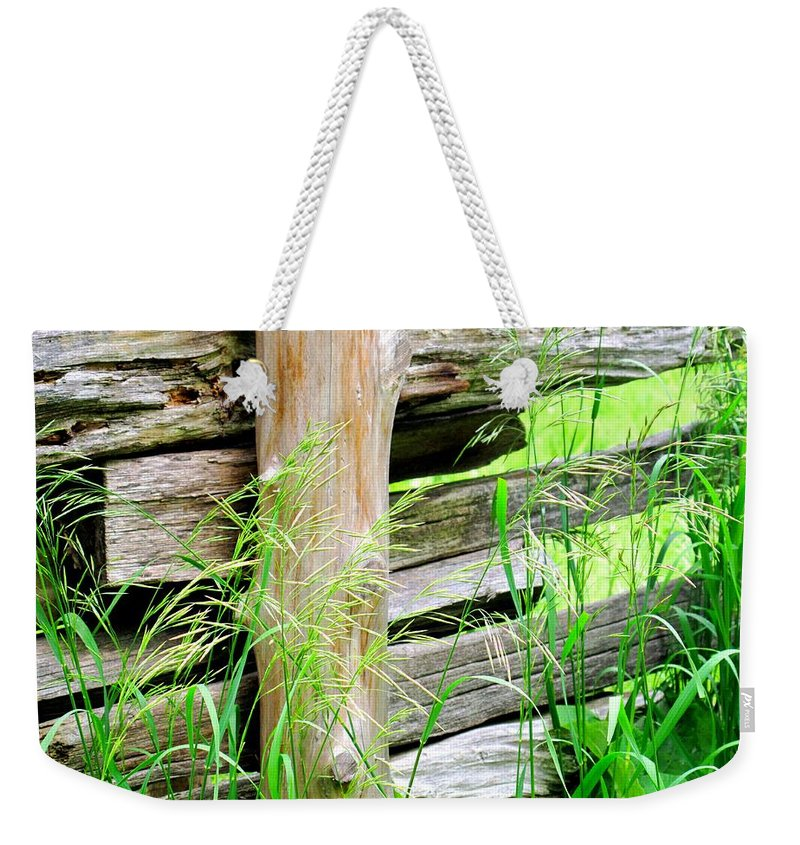 Fence Weekender Tote Bag featuring the photograph Fence by Ian MacDonald