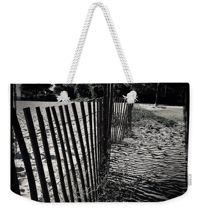 Beach Weekender Tote Bag featuring the photograph Fence by Judith Kitzes