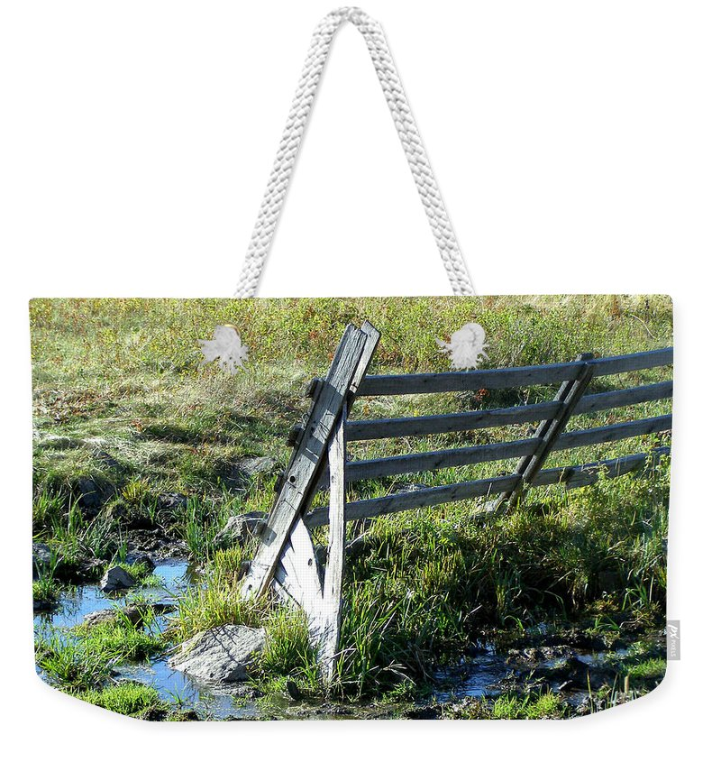 Fence Weekender Tote Bag featuring the photograph Fence by Susan Kinney