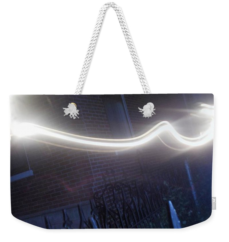 Photograph Weekender Tote Bag featuring the photograph Fence by Thomas Valentine