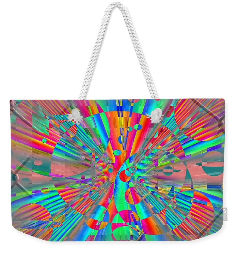 Fence Weekender Tote Bag featuring the digital art Fenced In No More 2 by Tim Allen