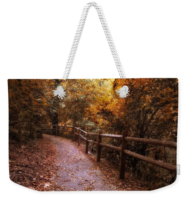 Seasonal Weekender Tote Bag featuring the photograph Fenceline by Jessica Jenney