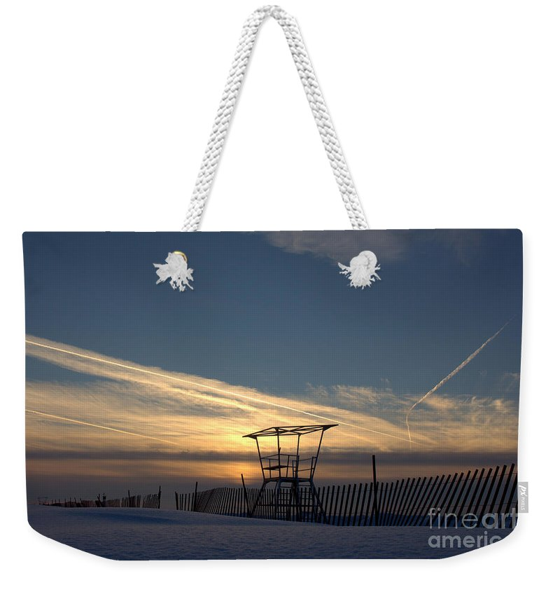 Lookout Weekender Tote Bag featuring the photograph Fencing On Look Out 2 by John Scatcherd