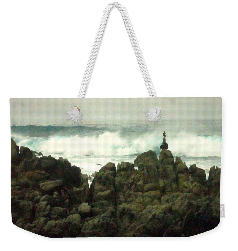 Feng-shui Weekender Tote Bag featuring the photograph Feng Shui On The Monterey Peninsula by Joyce Dickens