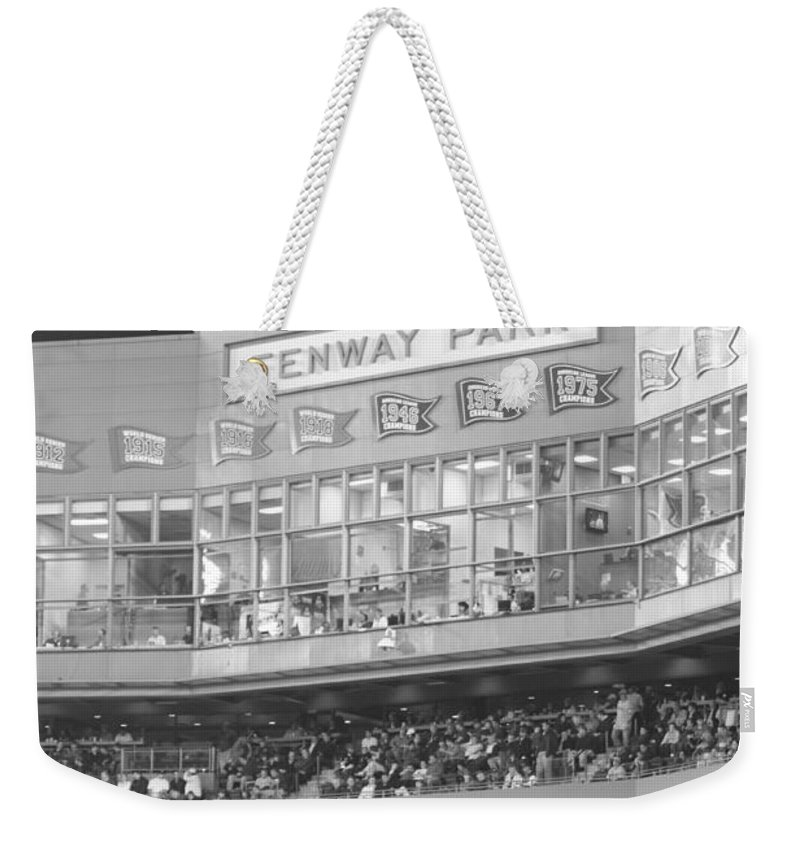 Fenway Park Weekender Tote Bag featuring the photograph Fenway Park by Lauri Novak