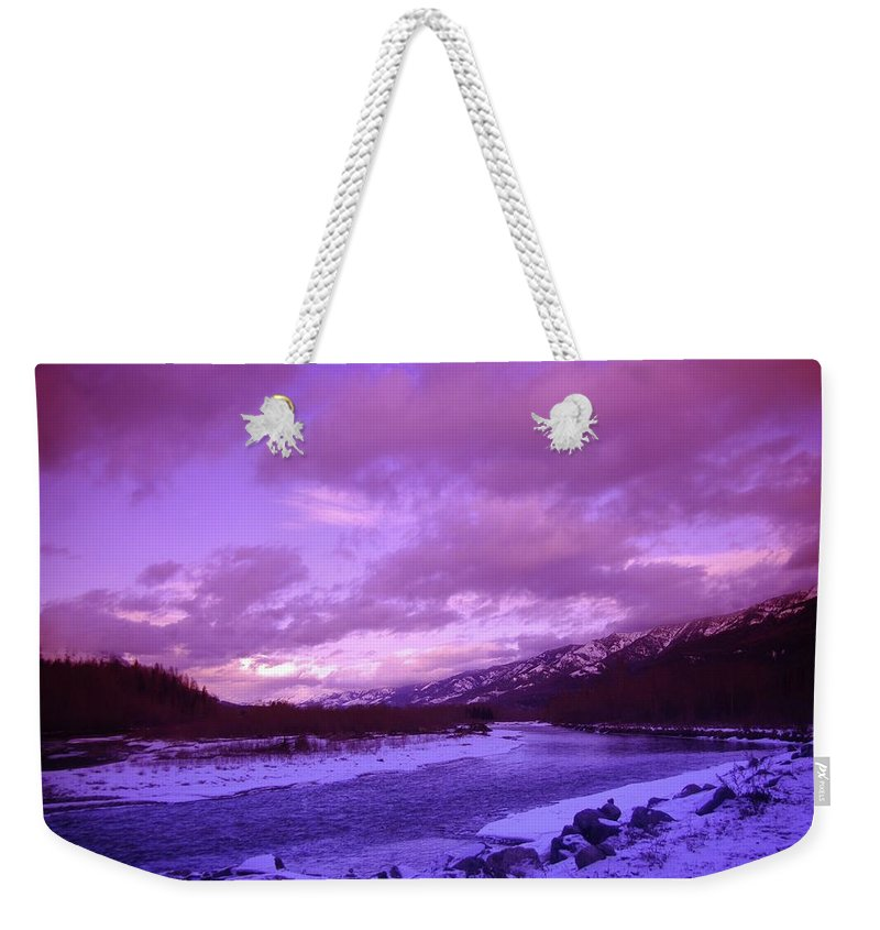 Fernie Bc. Winter Shits Weekender Tote Bag featuring the photograph Fernie British Columbia by Jeff Swan