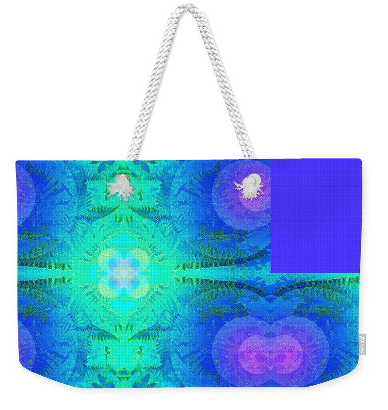 Fern Weekender Tote Bag featuring the photograph Ferns 2j Hotwax 3 Fractal Plus by Julia Woodman