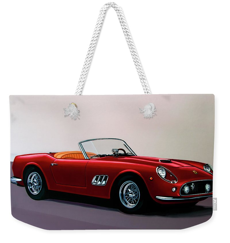 Ferrari 250 Gt California Spyder Weekender Tote Bag featuring the painting Ferrari 250 Gt California Spyder 1957 Painting by Paul Meijering