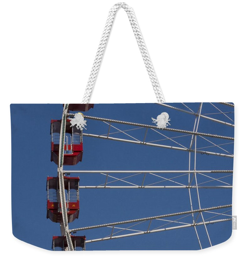 Chicago Windy City Ferris Wheel Tourist Tourism Travel Attraction Weekender Tote Bag featuring the photograph Ferris Wheel by Andrei Shliakhau