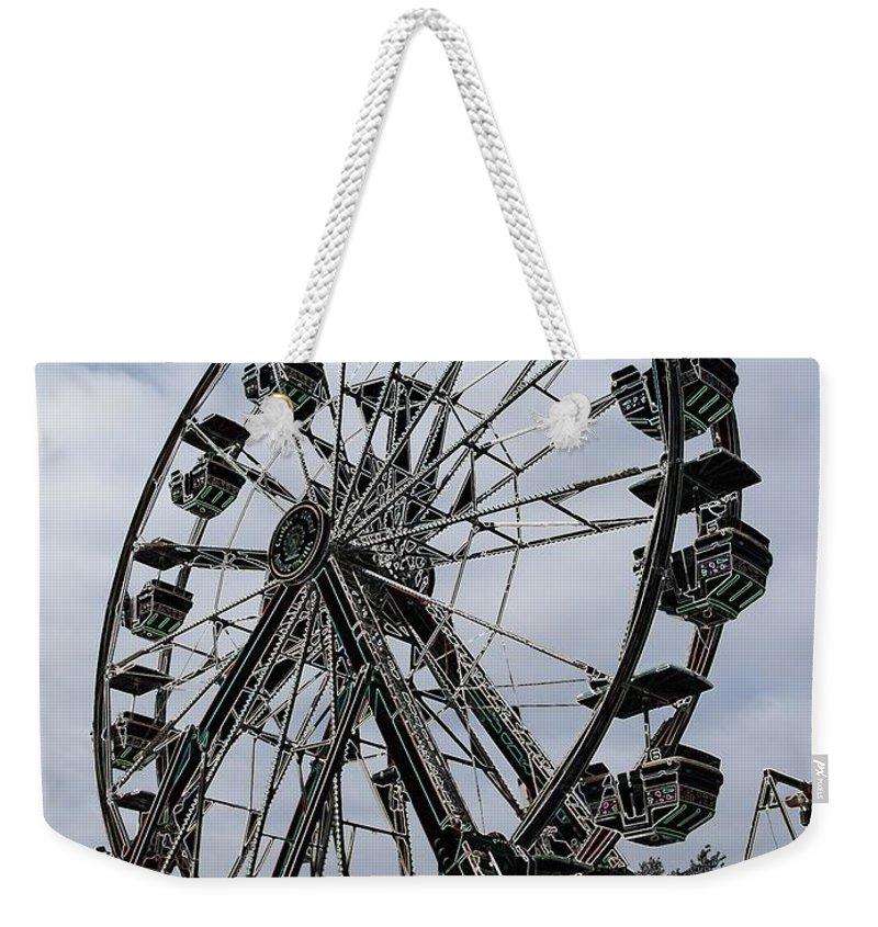 Ferris Wheel Weekender Tote Bag featuring the digital art Ferris Wheel by Ron Bissett