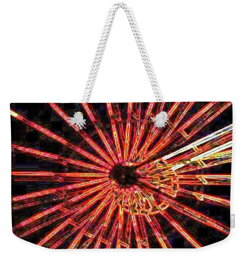 Ferris Wheel Weekender Tote Bag featuring the digital art Ferris Wheel by Tim Allen
