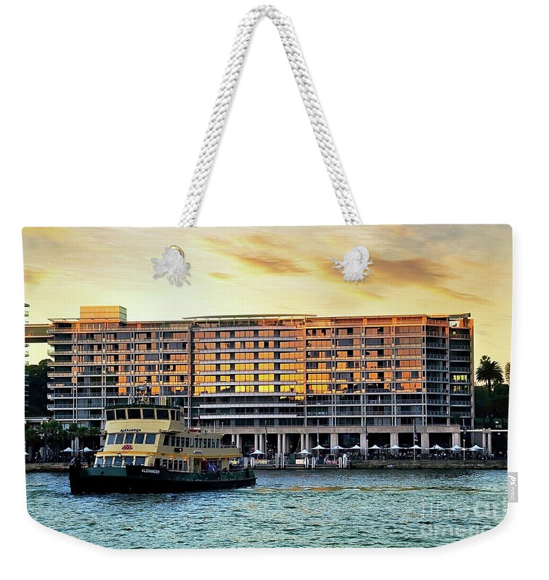 Photography Weekender Tote Bag featuring the photograph Ferry And The Toaster by Kaye Menner