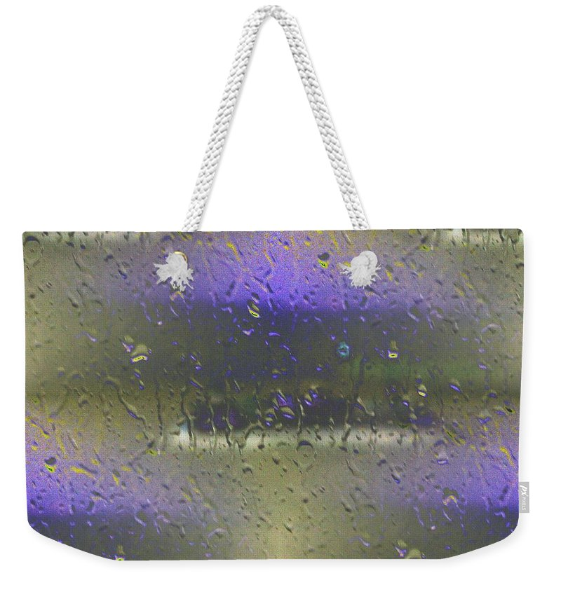 Seattle Weekender Tote Bag featuring the photograph Ferry In The Fog by Tim Allen