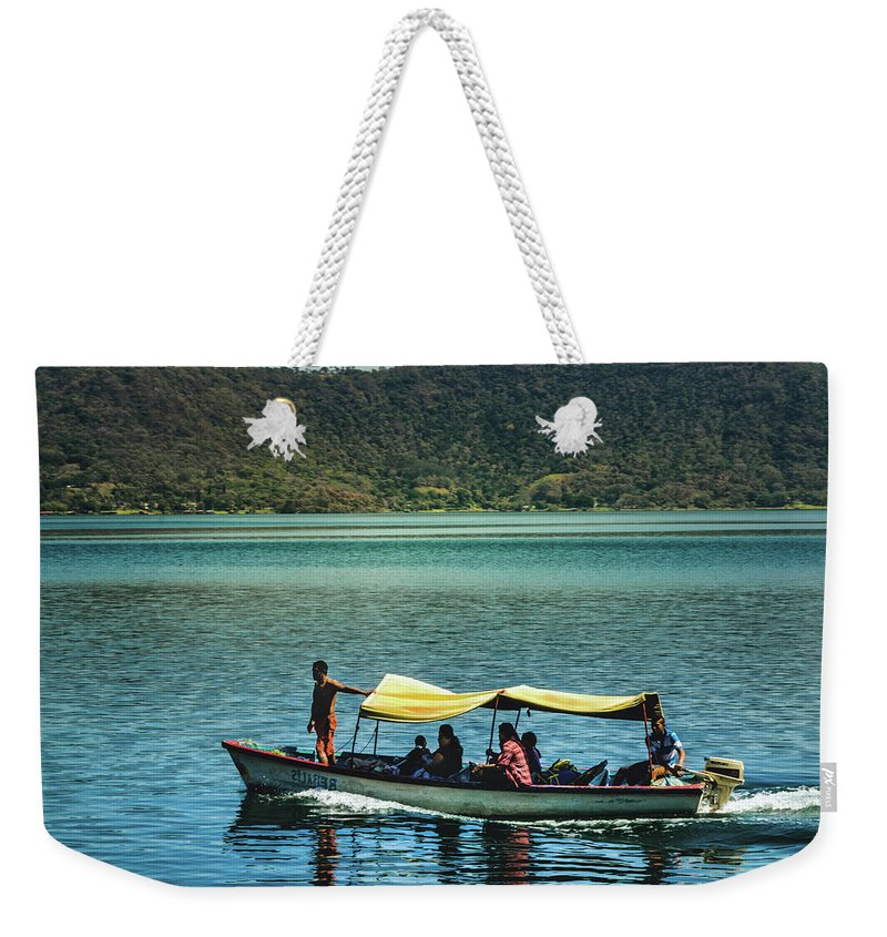 Ferry Weekender Tote Bag featuring the photograph Ferry - Lago De Coatepeque - El Salvador I by Totto Ponce