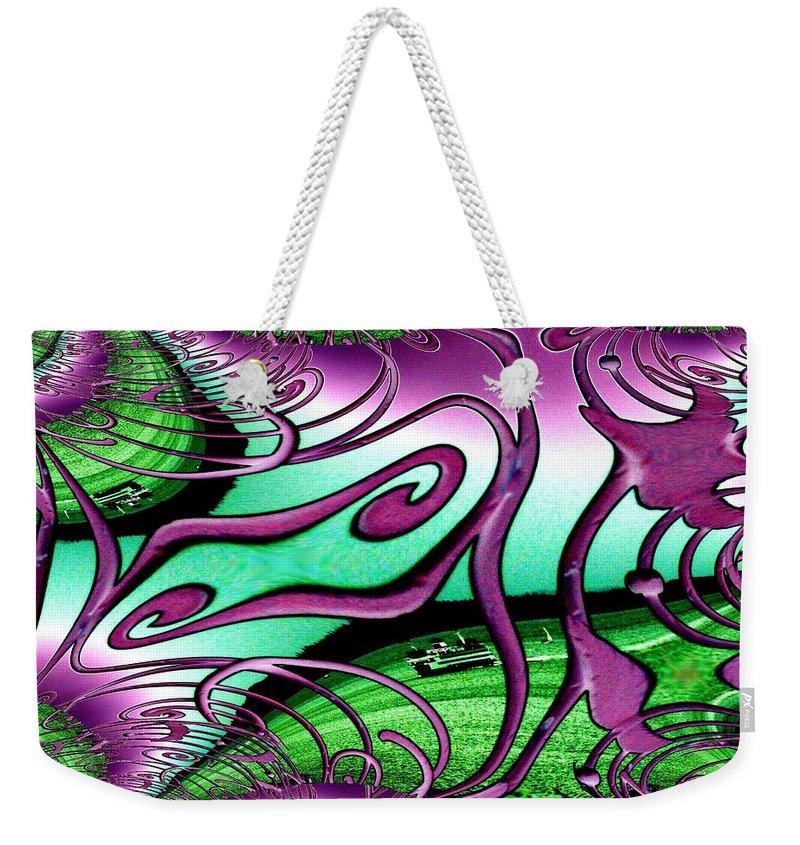 Seattle Weekender Tote Bag featuring the digital art Ferry On Elliott Bay 2 by Tim Allen