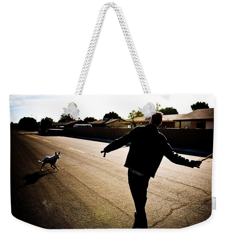 Fetch Weekender Tote Bag featuring the photograph Fetch by Scott Sawyer