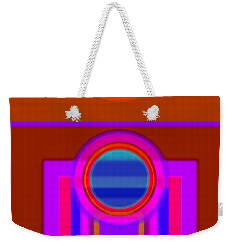 Classical Weekender Tote Bag featuring the digital art Fever Pitch by Charles Stuart