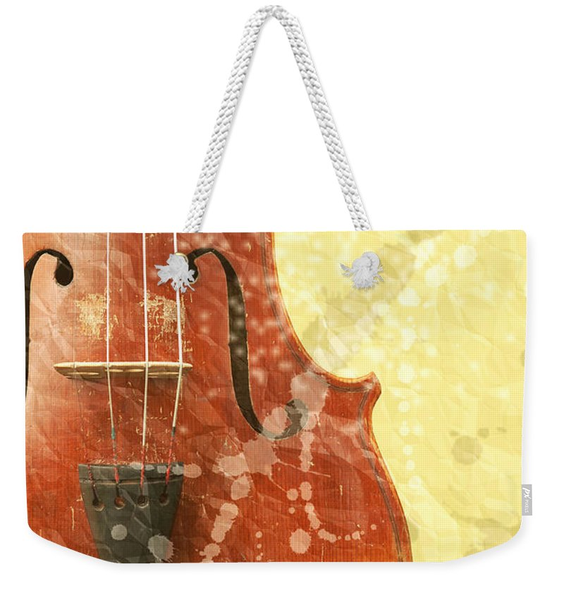 Fiddle Weekender Tote Bag featuring the photograph Fiddle by Michal Boubin