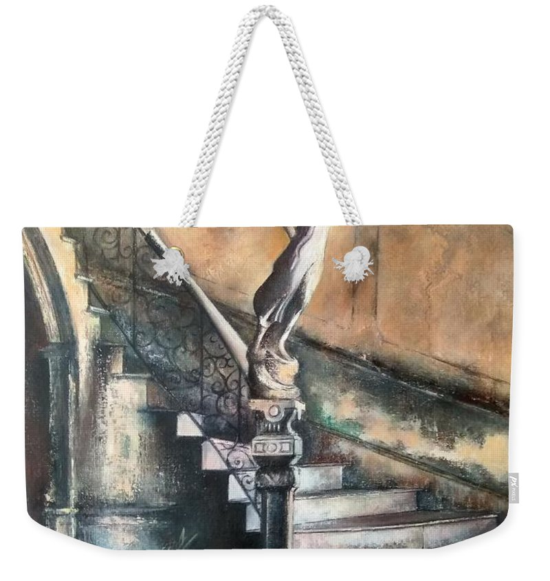 Old Havana Weekender Tote Bag featuring the painting Fidel by Tomas Castano