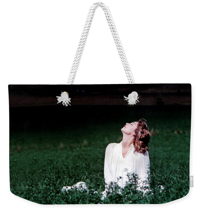 Woman Weekender Tote Bag featuring the photograph Field Of Dreams by D'Arcy Evans