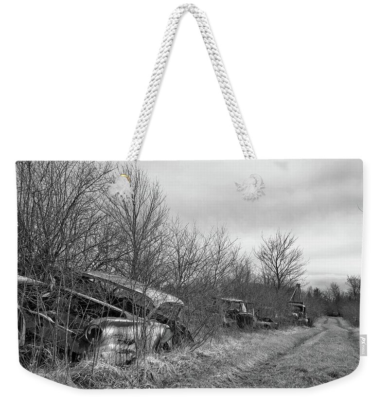 Wreck Weekender Tote Bag featuring the photograph Field Of Dreams IIi by John Murphy