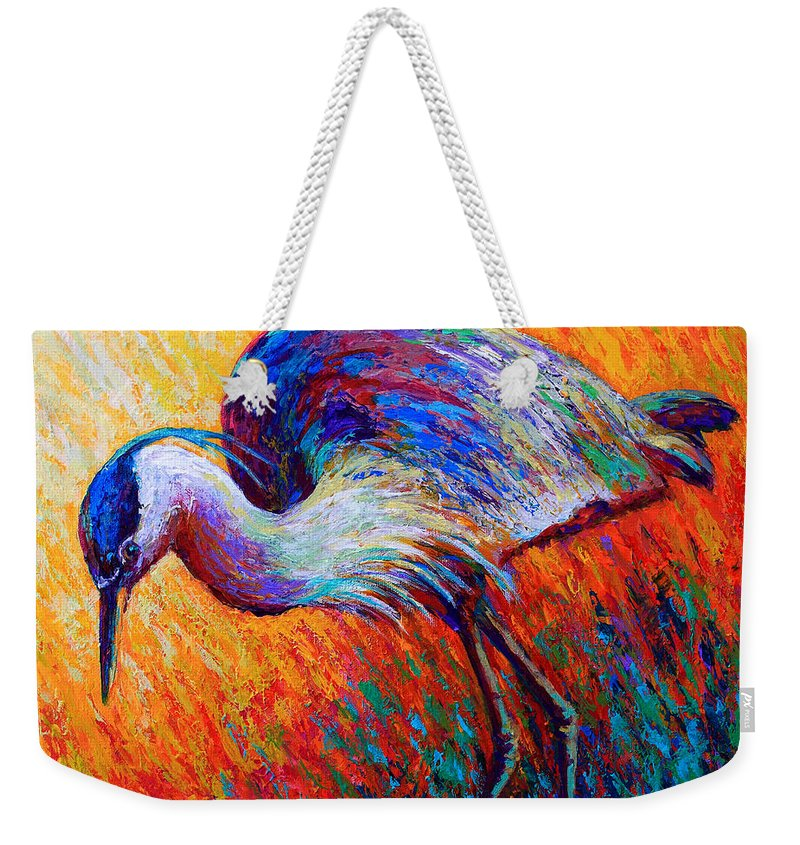 Weekender Tote Bag featuring the painting Field Of Dreams by Marion Rose