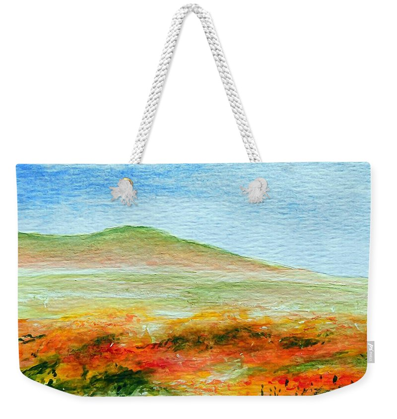 Poppy Weekender Tote Bag featuring the painting Field Of Poppies by Jamie Frier