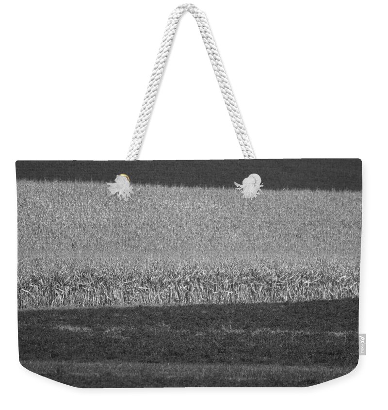 Fields Weekender Tote Bag featuring the photograph Fields Near Madison by Steven Ralser
