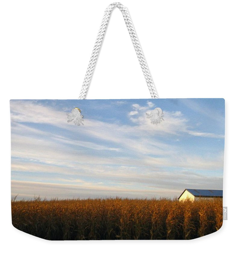 Country Weekender Tote Bag featuring the photograph Fields Of Gold by Rhonda Barrett