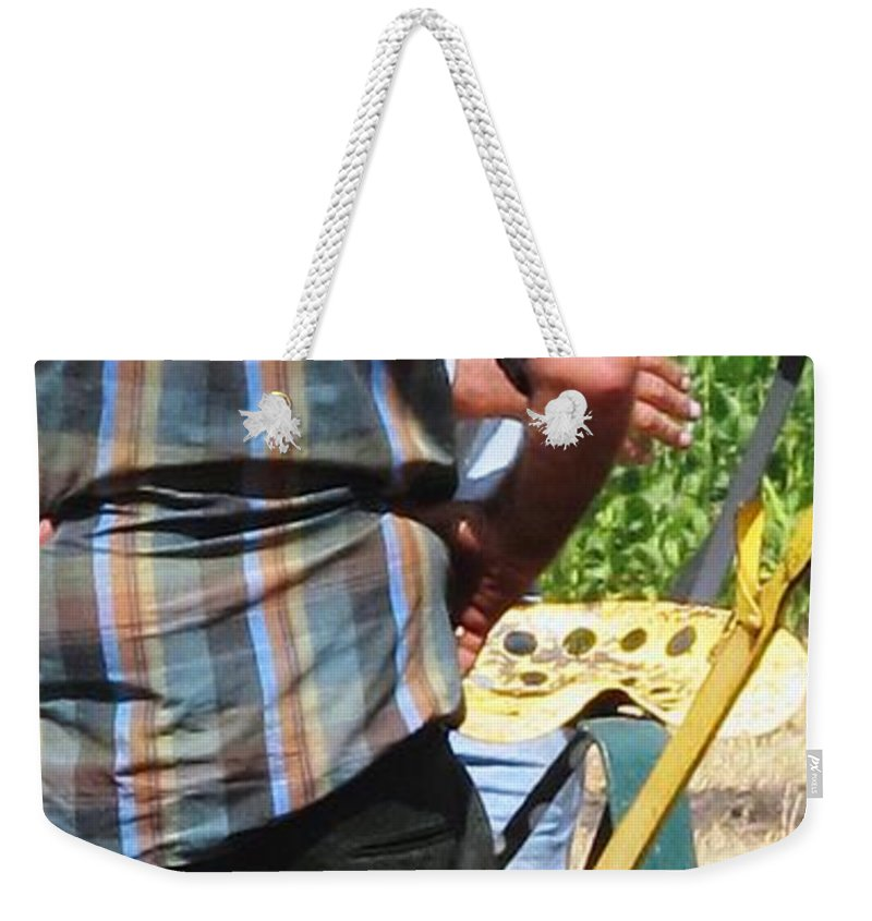 Plow Weekender Tote Bag featuring the photograph Fierce Competitors by Ian MacDonald