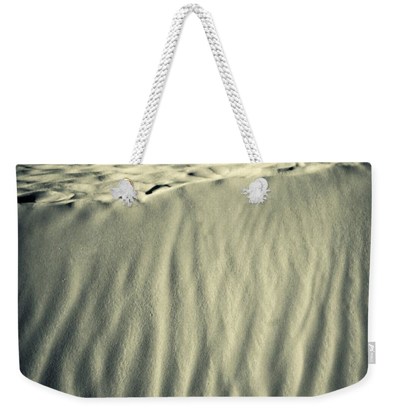 Africa Weekender Tote Bag featuring the photograph Fiery Desert Sand II by Silvia Ganora