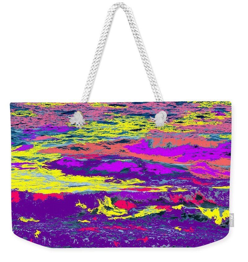 Ocean Weekender Tote Bag featuring the photograph Fiery Passion by Ian MacDonald