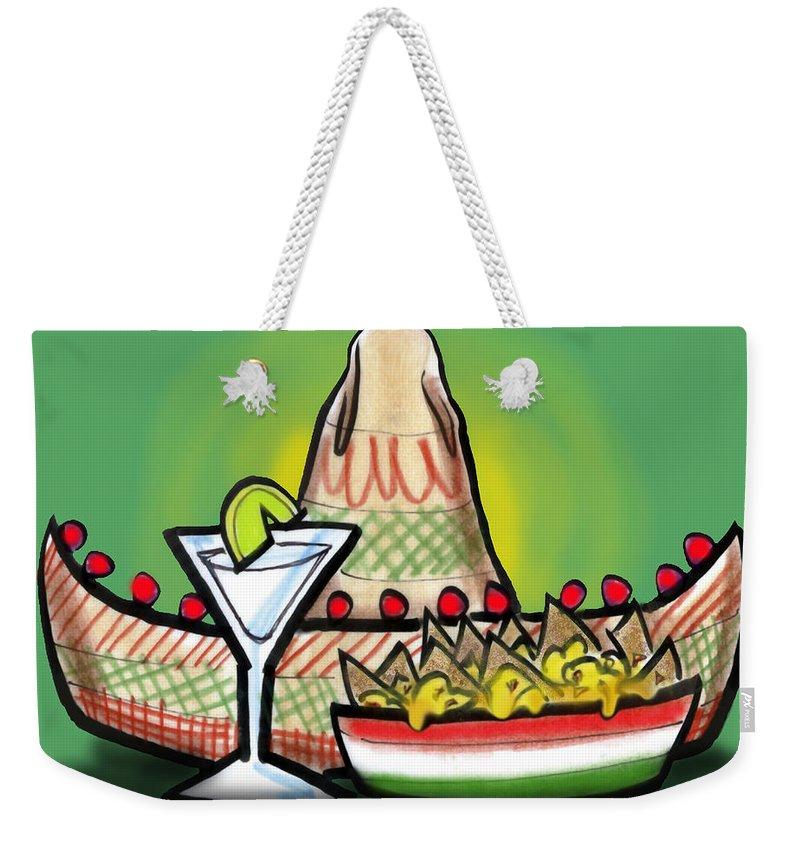 Fiesta Weekender Tote Bag featuring the greeting card Fiesta by Kevin Middleton