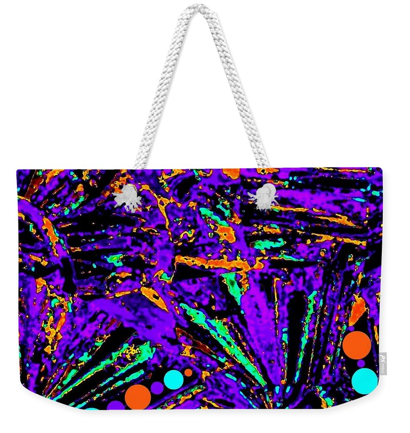 Abstract Weekender Tote Bag featuring the digital art Fiesta by Will Borden