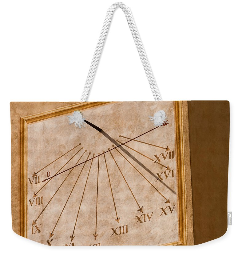 Italy Weekender Tote Bag featuring the photograph Fifteen Twenty Five by Colette Panaioti